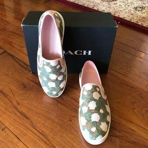 NIB Coach floral skip on sneakers women sz 11